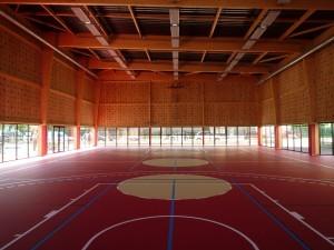 parquet gymnase collège Capeyron par Aqio