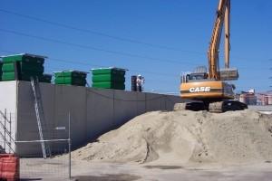 tas de sable du chantier DPA cuves éthanol - Aqio