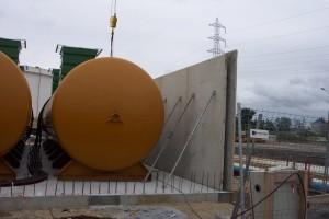 cuves à éthanols du chantier de contruction DPA par Aqio
