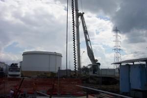 foreuse du chantier DPA cuve éthanol par Aqio