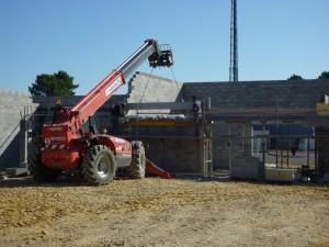 construction CLSH Le taillan par Aqio