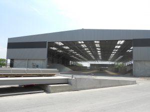 hangard du chantier Guyenne Enrobés par Aqio