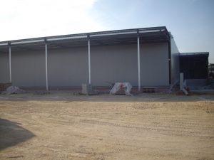 Construction du lidl ambares vu de loin par Aqio