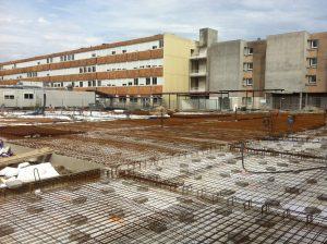 construction réfectoire lycée Daguin à mérignac vue du toit