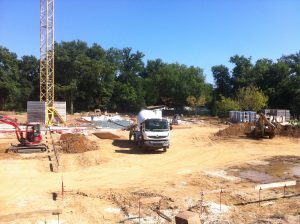 construction maison de retraite miséricorde début du chantier Aqio