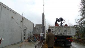 montage des mur du boulodrome
