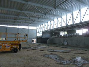chantier interieur du boulodrome à Bassens par Aqio