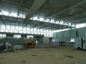 chantier intérieur du boulodrome de bassens par Aqio