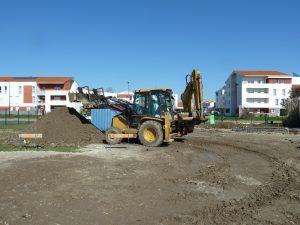chargeur chantier piscine de Bassens par Aqio