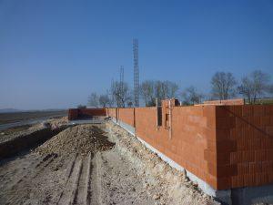 montage des murs du Lidl Mirambeau par Aqio