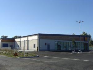 chantier Aqio du Lidl Mirambeau terminé