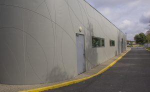 boulodrome exterieur matricage mur en béton