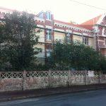 Aqio maison de retraite hospitalisée saint Dominique arcachon échafaudage vue de la rue