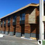 lycée pape clément extérieur bois par Aqio