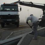 vermillon construction du pont par Aqio