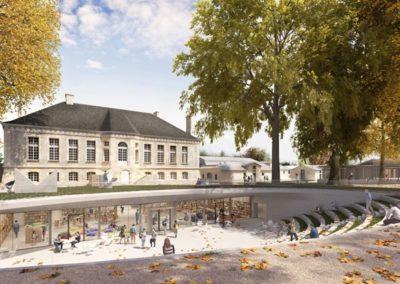 Aqio construit un groupe scolaire, une ludo-médiathèque et restructure la restauration scolaire à Bruges.
