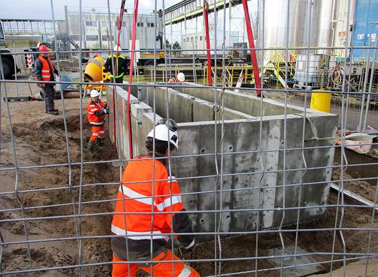 Génie civil industriel – Début de chantier à l'usine Michelin à Bassens (33)